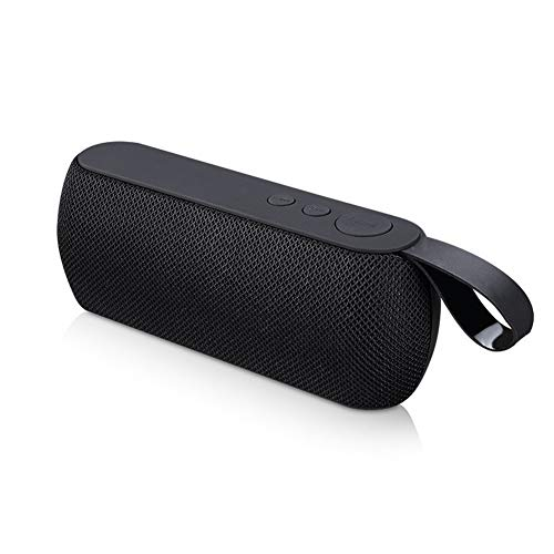 Kaper Go Schwarz tragbares Bluetooth-Lautsprecher drahtloses Lautsprecher-Soundsystem 3D-Stereo-Außensäulenlautsprecher TF-Karte FM AUX-Eingang