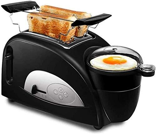 Máquina para hacer pan Máquina para hacer desayuno, Máquina para hacer pan de acero inoxidable, Máquina para hacer pan programable con dispensador de frutos secos, Bandeja de cerámica antiadherente