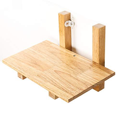Caja de Almacenamiento enrutador de Sala de Estar Estante montado en la Pared Partidas de Madera Maciza en la Pared de la Caja de organización del zócalo sin Punch (Color : Wood, Size : 29cm)