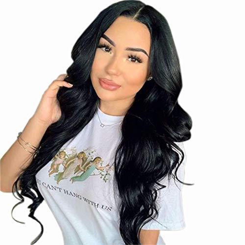 Volvetwig 13x4 Lace Front Wig Echthaar Perücke 100% Remy Hair Wig Sanft Grad 7A Brasilianisch Menschliches Haare Perucke Welle Lace Frontal Wig Human Hair Body Wave 14 zoll