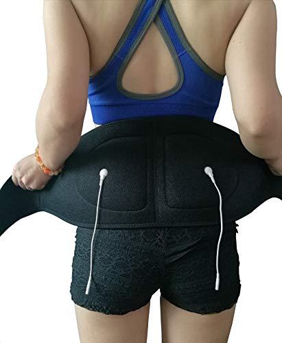 Seknocare Leitfähiger Gurt, Elektrotherapie, zur Linderung von Schmerzen im unteren Rücken, mit 3,5 mm Druckknopf und 2,0 mm Plughole, Gürtelgröße: 125 cm mit 2 Textilelektroden)