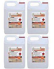 4 X 5L Bioetanol para lámparas y chimeneas color transparente Combustión de alta calidad no humos
