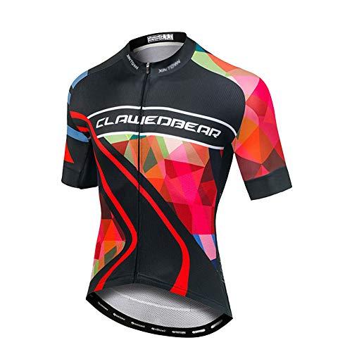 YOUCAI Uomo Inverno Termico Completo Ciclismo Abbigliamento Set, Manica Lunga Antivento Ciclismo Maglia e 3D Lunga e Pantaloni per Vello 1 2XL