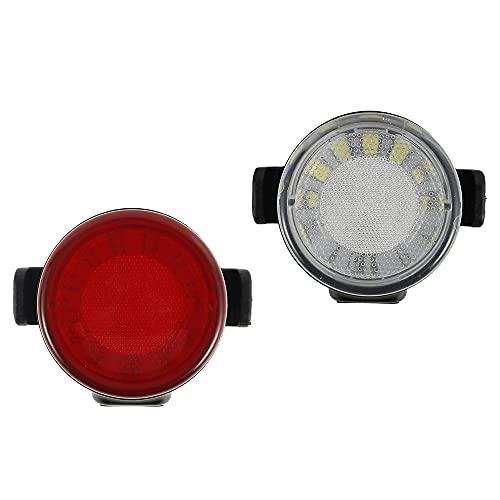2PCS Fahrradrücklicht, Rot & Weiß LED Fahrradlicht, USB Wiederaufladbare Fahrrad Rücklichter Set, Wasserdicht Hinten Fahrradlampe, Beleuchtung für Rennrad Fahrrad MTB