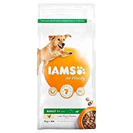 Iams For Vitality Dry Dog Food Large Breed With Fresh Chicken, 2kg
