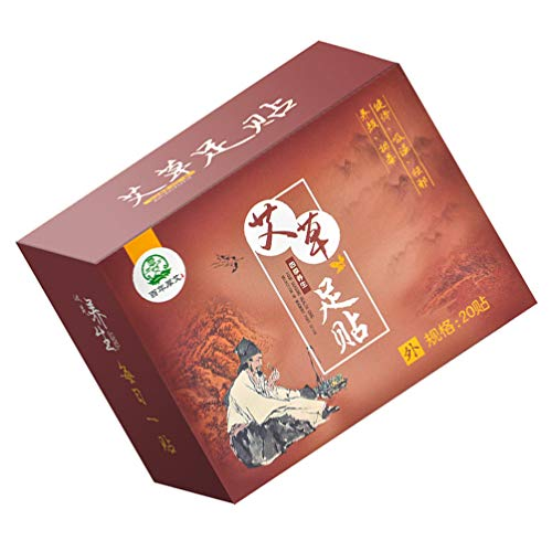 HEALLILY 20PCS Moxibustion Patch Natural Herb Wormwood Sticker Mugwort Moxa Pads Foot Patch for Shoulder Neck Leg Hand Back