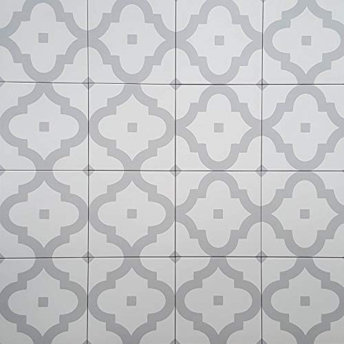 Casa Moro Orientalische Keramik-Fliesen Ladakhi 20x20 cm 1 qm aus Feinsteinzeug in Zementoptik   Bodenfliesen & Wandfliesen im Bad & Küchenrückwand   schöne Küche Flur & Badezimmer   FL8220