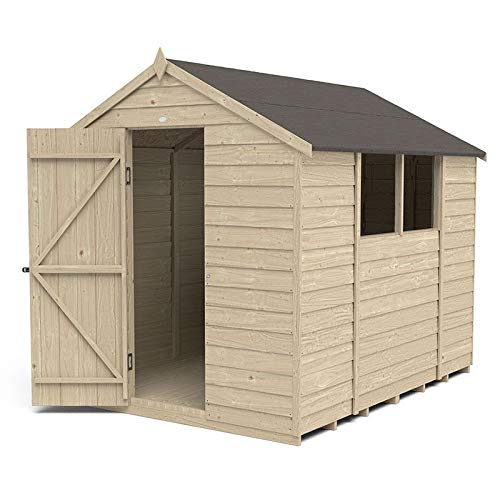 Forest Garden Overlap Pressure Treated 8 x 6 Apex Shed
