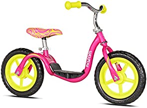 Kazam v2e No Pedal Balance Bike, Pink/Yellow