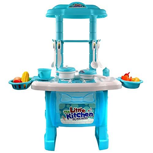 PHYLES Küchenspielzeug Spielküche zubehör mit vielen Funktionen, kinderküche Kochspielzeug für Kleinkinder Pädagogisches Spielzeug Rollenspiel Food Geschenk für Jungen Mädchen