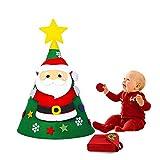 3D Árbol de Navidad del Fieltro DIY for Niños Fijó con 30 pcs Ornamentos Desmontables Árboles de Navidad Extraíble Decoraciones de Navidad Colgante Año Regalo