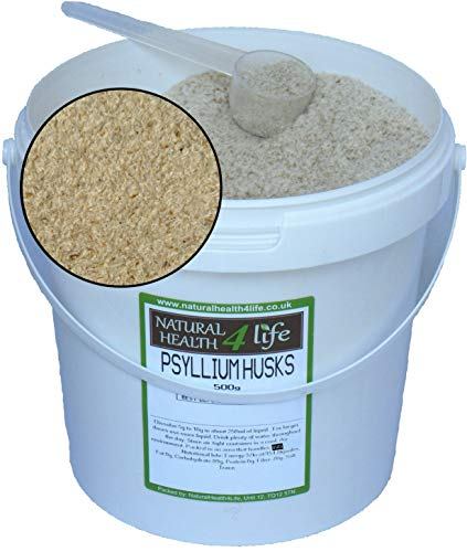 Psyllium Husks 500g in Storage Tub with Serving Scoop
