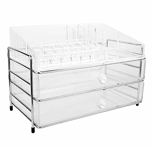Clear Cosmetic Storage Organizer - Make Up Box Easily Organize Your Cosmetics, Jewelry and Hair Accessories for Your Vanity, Bathroom Counter Dresser