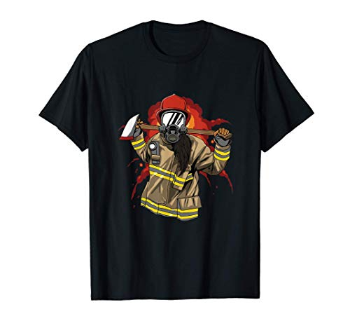 Bomberos - Bomberos De Línea Roja Delgada Camiseta