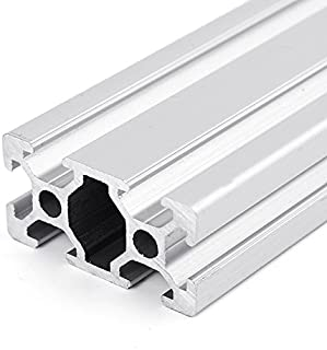 1000mm T-Slot Aluminum Extrusion SENREAL Sliver 2040 Profile Extrusion Frame Anodized Linear Rail for 3D Printer and CNC