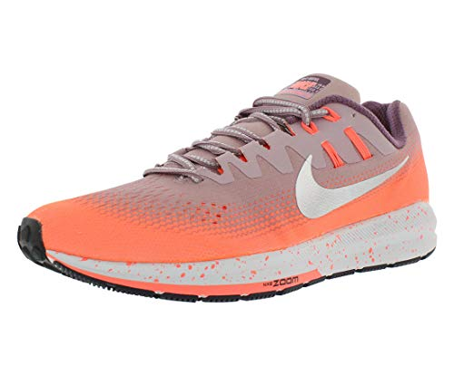 Nike Women's Air Zoom Structure 20 Shield Running Plum/Metalic Silver/Mango 849582-500 (Size: 5.5)