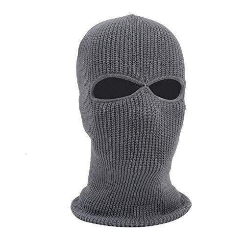 YNLRY Heat Holders - Máscara táctica bordada limitada del ejército con 3 agujeros, máscara de esquí para invierno, pasamontañas y ciclismo (color: gris, talla única)