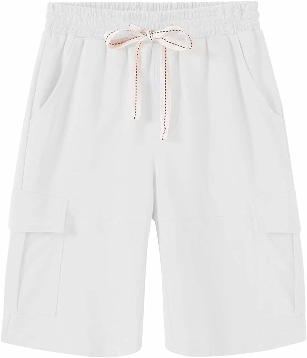 Max 81% OFF Msmsse Women's Casual Cargo Tucson Mall Cotton Waist Elastic Shorts Bermuda