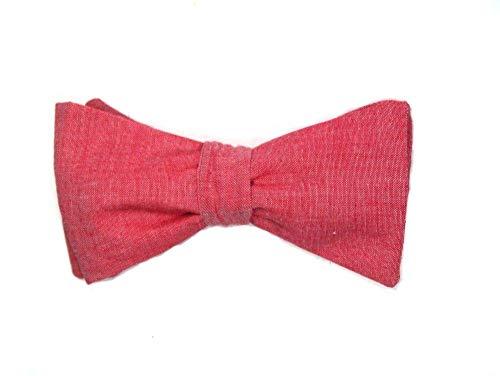 Herren Anzug Fliege rot rosé zum Selbstbinden