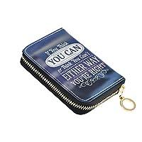 クレジットカードケース カード入れ じゃばら 大容量 スキミング防止 カードホルダー 磁気防止 おしゃれ 人気 ミニ財布 小銭入れ コンパクト 北欧風 モットー 座右の銘 女の子 レディース 男の子 メンズ