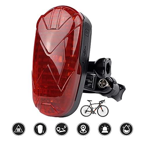 TKSTAR GPS Tracker Bicicletta con luci posteriori Moto in tempo reale Mini GPS Localizzatore, 2 in 1 antifurto bicicletta moto Passeggino GPS Localizzatore, SOS Calling -TK906