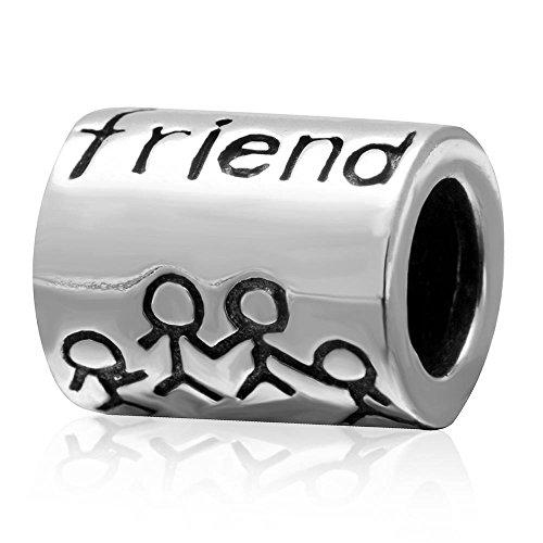 Beste vriend Samen Forever Bedel 925 Sterling Zilver Vriendschap Kralen Compatibel met Europese Bedel Armbanden