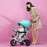 Sillones BMX 4 en 1 Niños Triciclo Triciclo con asiento giratorio y respaldo reclinable productos para bebés verde verde