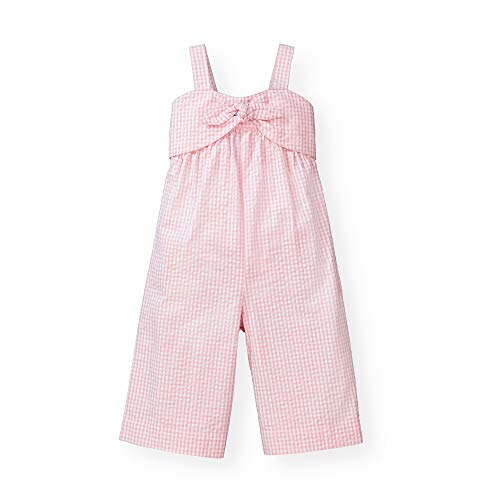 Hope & Henry Girls' Wide Leg Sleeveless Jumpsuit with Bow Front