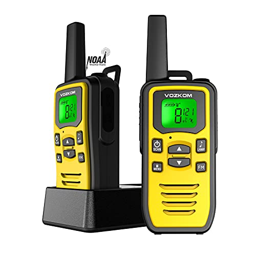 Long Distance Walkie Talkies for Adults, Walkie Talkie Professional Rechargeable, NOAA Emergency Kit GMRS Two Way Radio, Survival Gear for Camping