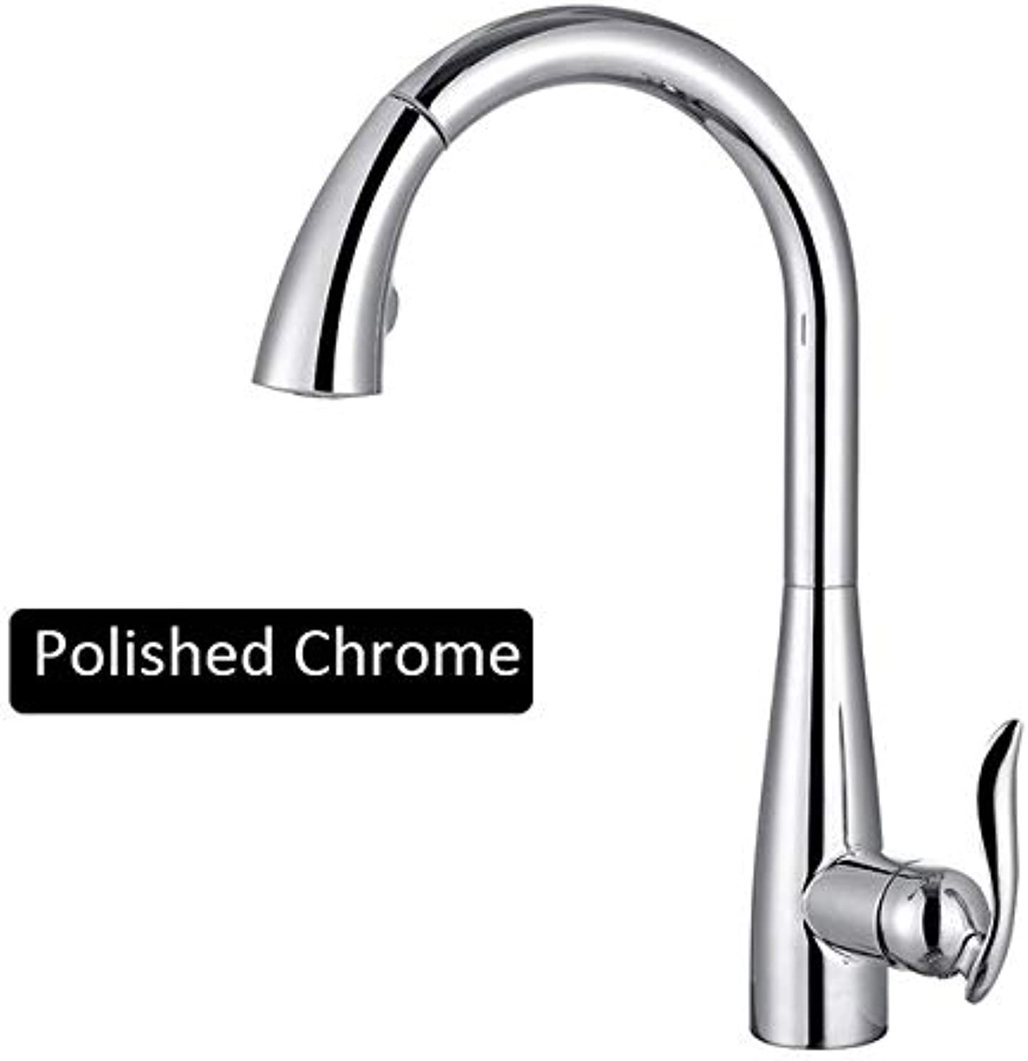 U-Enjoy Chandelier Nickel Pull Brushed Brushed Brushed Out Faucet Top Quality Chrome Kitchen Mixer Tap Single Mixer Tap 360 Handle redation Kitchen Water Mixer Tap Free Shipping [Chrome] dc3e43