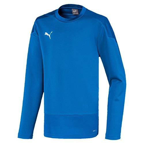 PUMA Jungen, teamGOAL 23 Training Sweat Jr T-shirt, Electric Blue Lemonade-Team Power Blue, 152