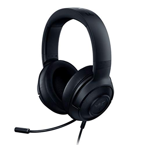 Razer Kraken X Gaming Headset - Matte Black: 7.1 Surround Sound Capable on PC - Lightweight Frame - Cardiod Microphone - For PC, Xbox, PS4, Nintendo Switch