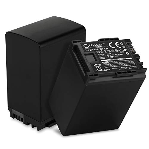 CELLONIC 2X Batería Premium Compatible con Canon XA10 XA20 XA25 XA30 XA35 LEGRIA HF G25 G10 G30 HF S21 HF M46 FS200 FS306 GX10 HF10 HF200 HG20, BP-820 BP-828 2670mAh bateria Repuesto Pila