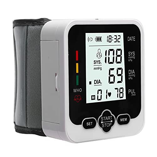 Monitor de presión arterial, monitor de manguito de detección de corazón irregular automático, pantalla grande, kit automático de presión arterial por voz