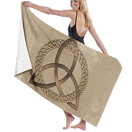 Microfiber Soft Large Shower Bath Towels Beach Towels Bath Washcloths Bathroom Towels-Celtic Triquetra Trinity Knot