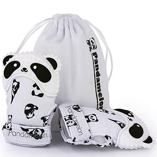 Teething Mittens for Baby, Mitten Teether Toy, Infant Teething Mitt Set, Cute Panda Teether, Pack of 2
