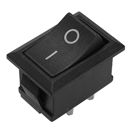 JenNiFer 2Pin 10A 250V T125/55 Plastic Rocker Switch Double Pole for Canal Mr-2 Series