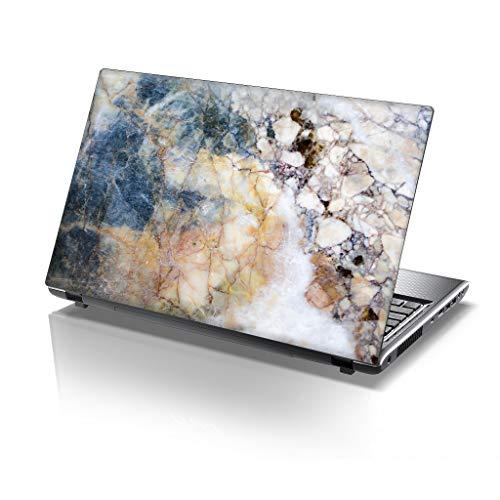 TaylorHe - Laptop Skin Adesivo in Vinile per Computer Portatile da 13-14' (34cm x 23,5cm) Prodotto in Inghilterra Marmo colorato, Pietra
