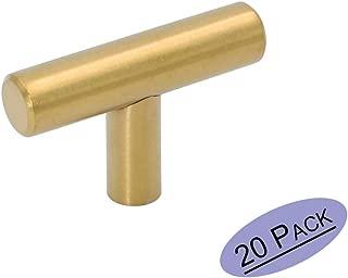20x Goldenwarm/® T Stangengriff Black Coated Schwarz Beschichtung M/öbelgriffe Hohle Edelstahl K/üchenschrank T/ürgriffe Bohrlochabstand 96mm Gesamtl/änge 150mm