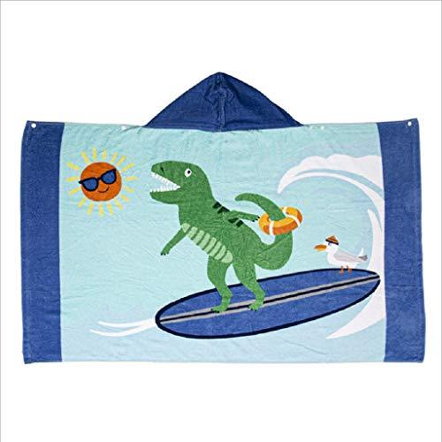 Toalla de baño con capucha para niños y niñas, toalla de baño de ducha, piscina para niños y niñas marrón E Talla:talla única
