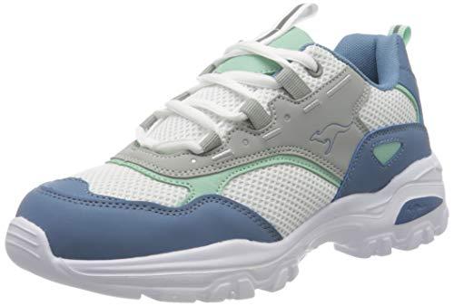 KangaROOS Damen KW-Coby Sneaker, Vapor Grey/Faded Blue 2093, 38 EU