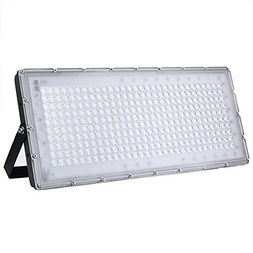 kingpo Foco LED exterior, 300 W, 24000 lm, 6500 K, luz blanca fría, IP65, impermeable, iluminación exterior LED, foco para jardín, garaje, gimnasio, hotel