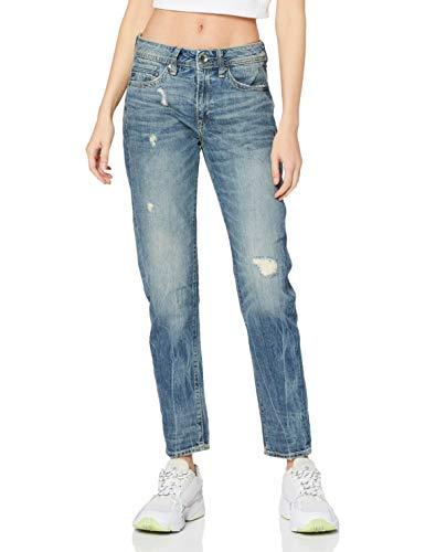 G-STAR RAW Damen Jeans Midge Saddle Boyfriend, Blau (Lt Aged Destroy 8586-1243), 27W / 32L