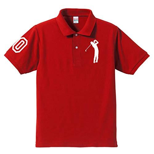 ゴルフ(男性) 袖マーク(60)60th Anniversary シニアゴルファー お祝いポロシャツ 還暦ポロシャツ 大人用 5L