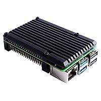 H HILABEE Raspberry Pi 4B用 CNCアルミ合金ケース+4個 M2.5 六角ネジ+アレンレンチ+3個入 サーマルテープ