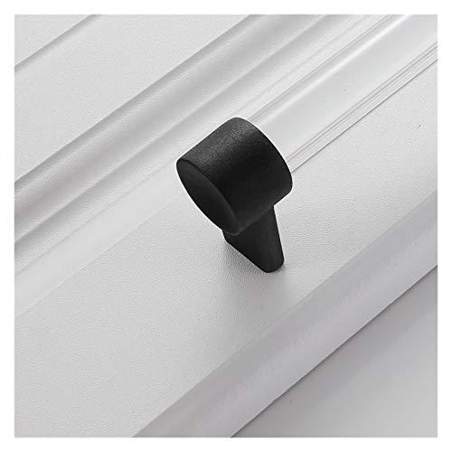 XUANMAI manijas de Puerta Manijas For Muebles Crystal Silver Perillas De Cocina Puertas De Cocina Armario Armario Gold Sujetador Ajustable Gabinete Negro (Color : Sandy Black, Size : 192mm)