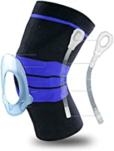 Knee Brace Compression Sleeve Support for Men & Women, Knee Wraps Patella Stabilizer with Silicone Gel Spring Pad,Protecto...