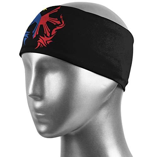 MAOYIHO Polo Filipino Flag Unisex Hairbands Highly Absorbent Non-Slip Sweatbands,Stretchy Bandanas Headbands