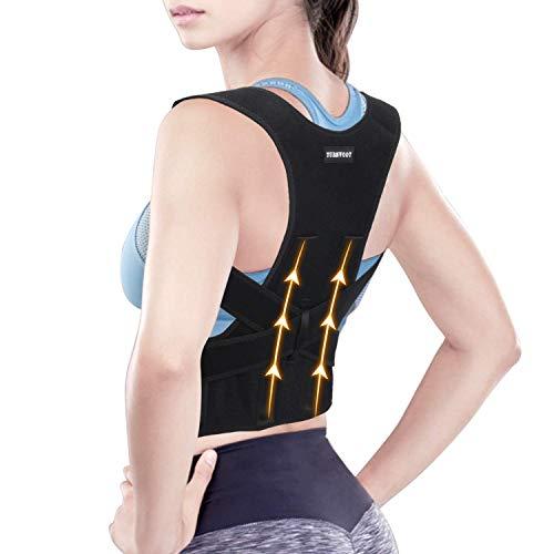 "Back Brace Posture Corrector For Women and Men - Upper Back Straightener Posture Corrector Support - Neck,Shoulder,Back Pain Relief and Improve Posture - Lumbar Adjustable & Breathable(M:26""-34"")"