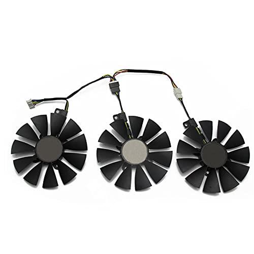 87mm PLD09210S12HH PLD09210S12M Fan de refrigerador para ASUS Strix GTX980TI RX480 / 580 R9 390x / R9 390 GTX 1060 GTX1070 1070ti 1080ti (Blade Color : 3PCS)